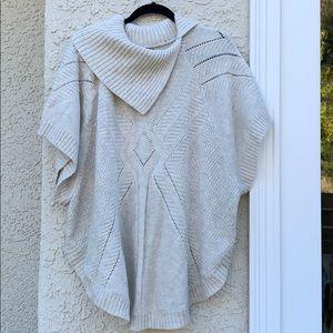 Lane Bryant Poncho Cream Sweater Size 14/20